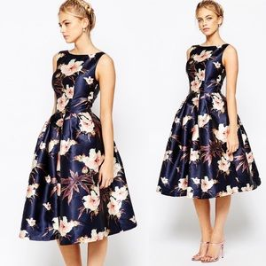 CHI CHI LONDON Floral Fit & Flare Dress, UK 8